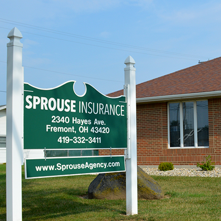 Sprouse Insurance, Fremont sign